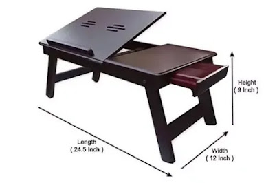 Ebee Brown study Table with Drawer