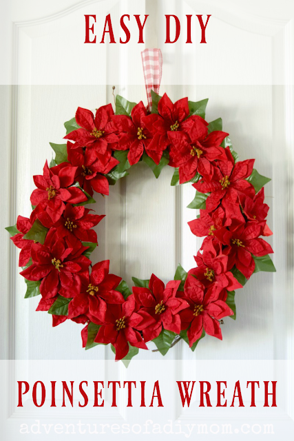easy diy poinsettia wreath