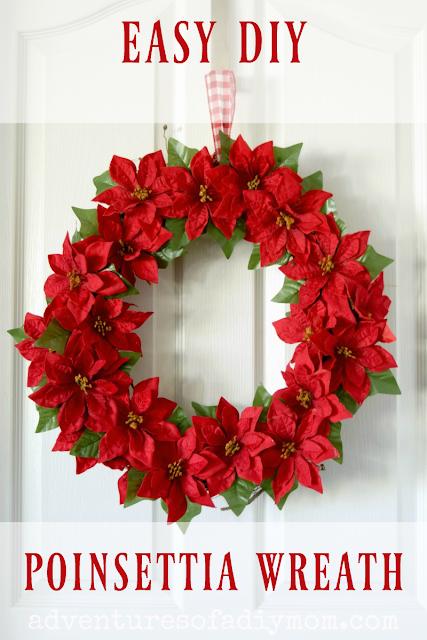 easy diy poinsettia wreath