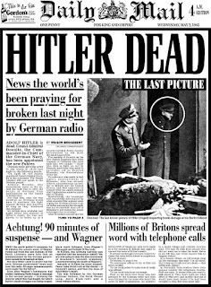 La muerte de Hitler en los periódicos