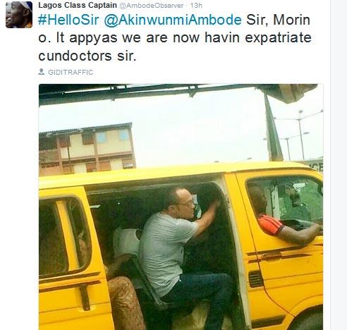 LMAO! Oyibo People Now Bus Conductors In Nigeria?