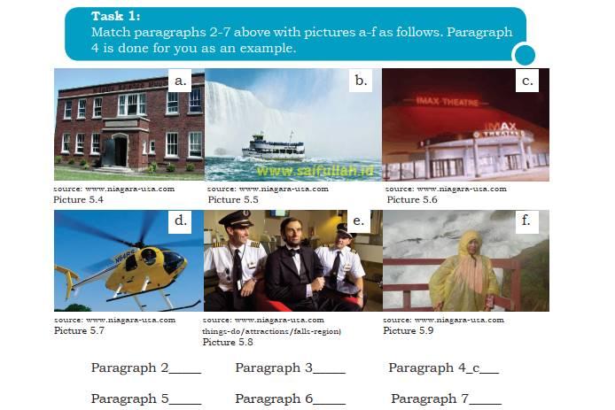 Pembahasan Soal Bahasa Inggris Chapter 5 Task 1 Halaman 74 Kelas 10 (Mencocokkan Gambar & Paragraf)