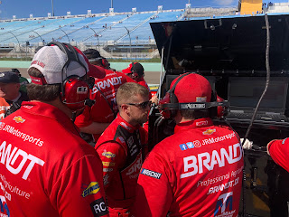 Justin Allgaier with his Crew - #NASCAR Xfinity Series