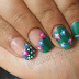 Tutorial 01: Green Floral Nails