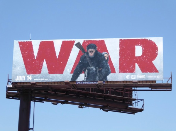 War for the Planet of the Apes movie billboard