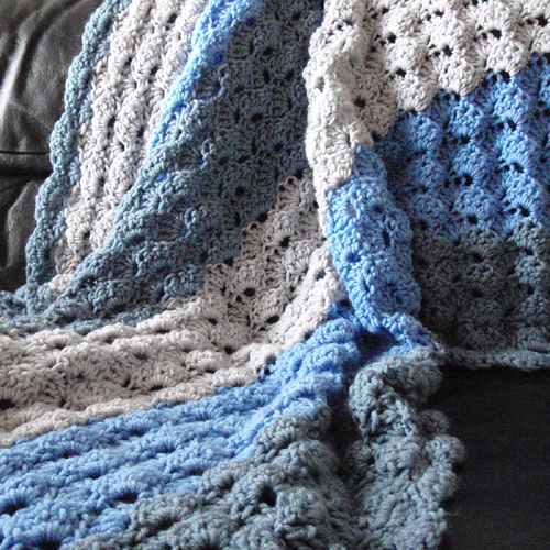 Speed Hook Shell Afghan - Free Pattern