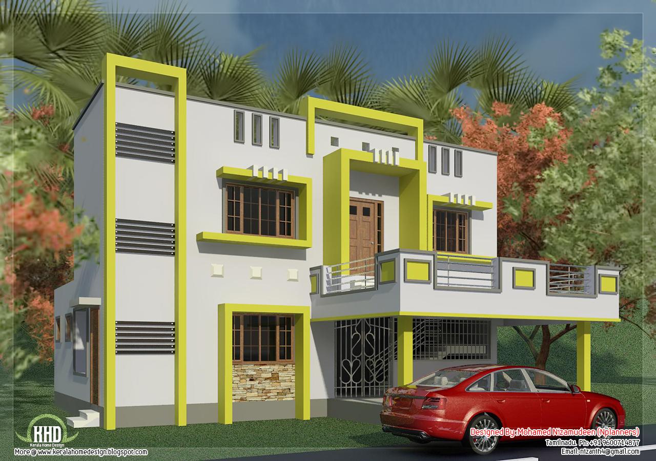 tamilnadu house design in 1650 sq.feet | style house 3d models