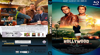 CARATULA ERASE UNA VEZ EN HOLLYWOOD - ONCE UPON A TIME IN HOLLYWOOD - 2019 [COVER BLU-RAY]