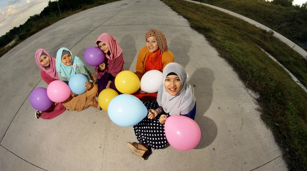 model hijab tahun 90an