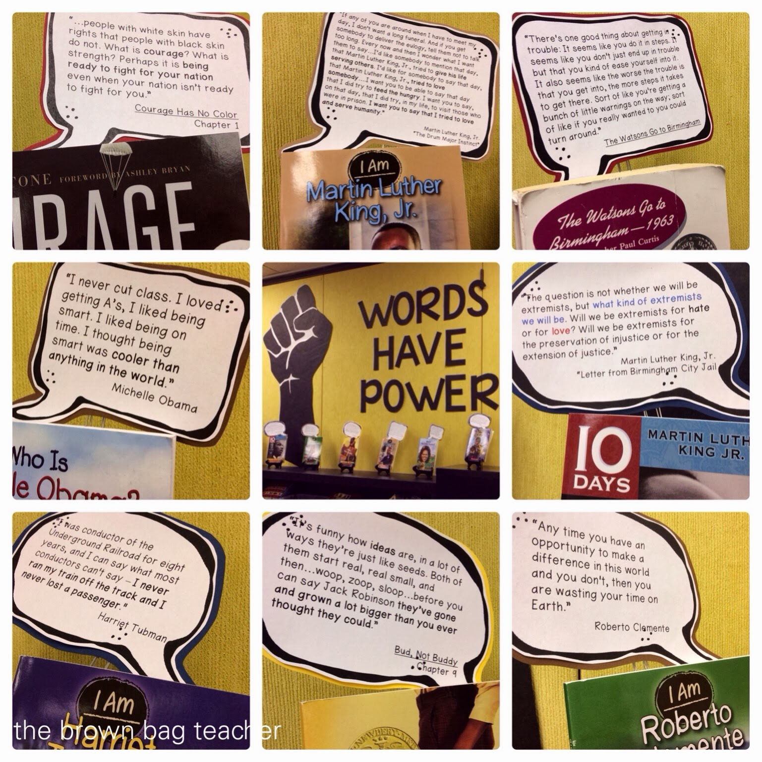 Words Have Power Book Display
