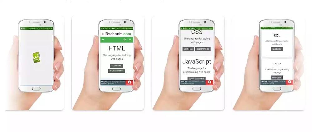 Cara studi Online Gratis belajar koding via w3school