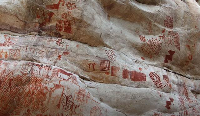 Αμαζόνιος: Χιλιάδες βραχογραφίες 12.000 ετών - Ζώα που έχουν εξαφανιστεί και άνθρωποι που χορεύουν