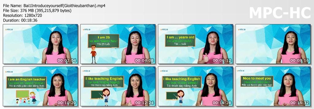 Video khóa học Tiếng Anh giao tiếp cho người mới bắt đầu