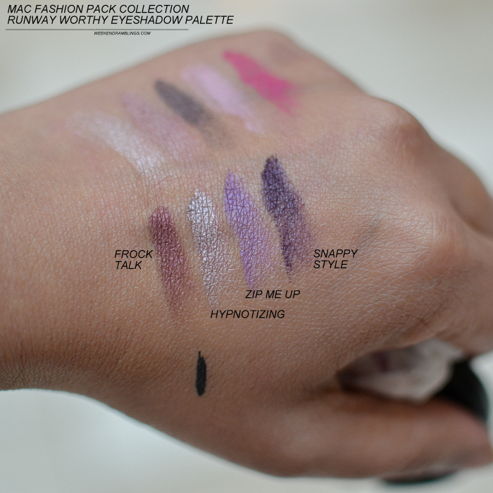 MAC Fashion Pack Makeup Collection - Runway Worthy Eyeshadow x 9 Palette - Swatches