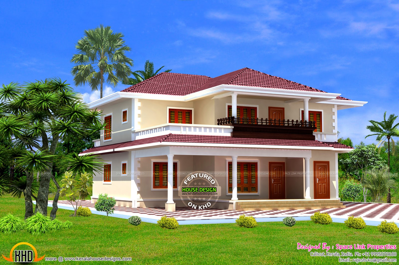 August 2015 kerala home design and floor plans for New model home design