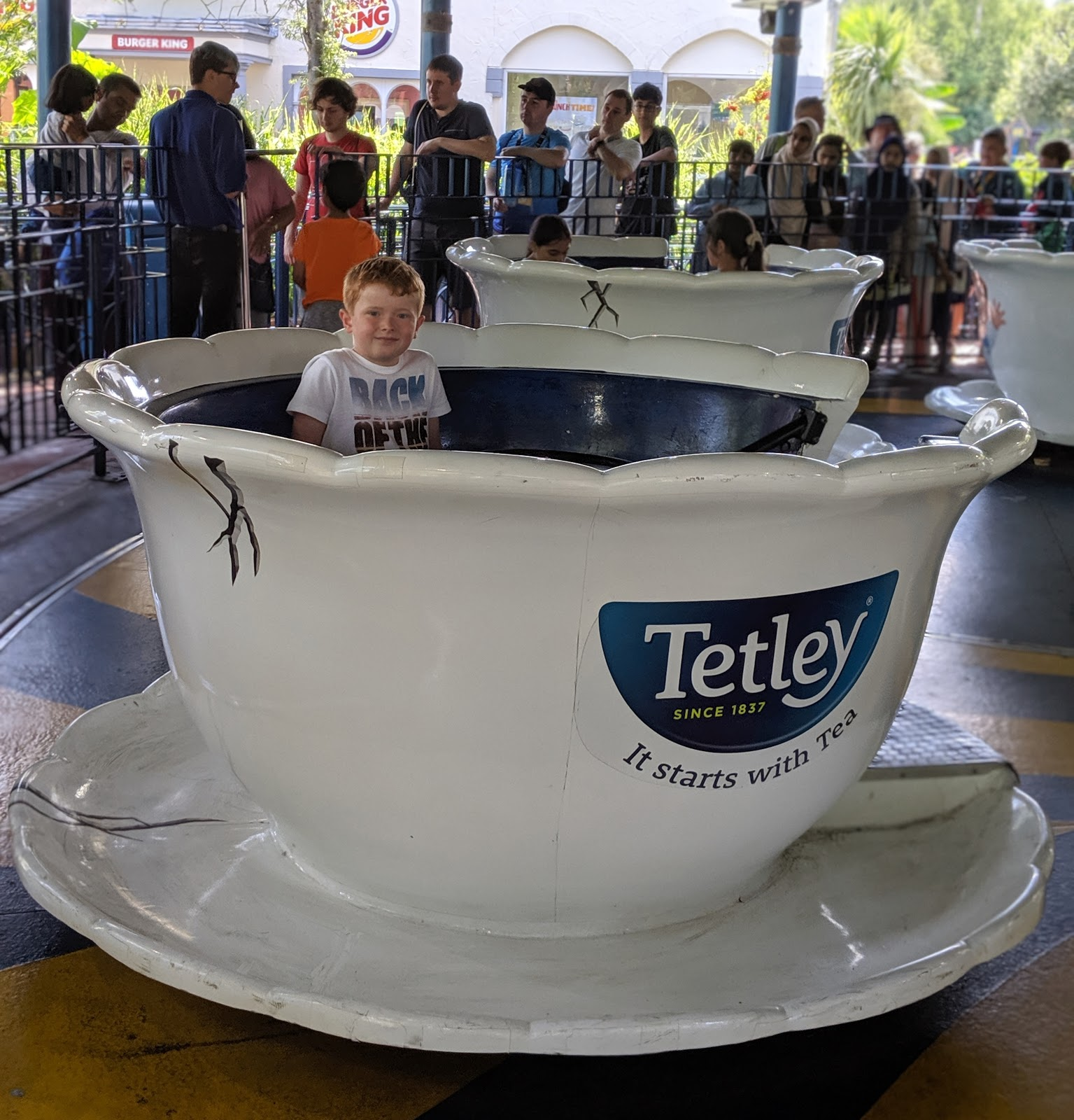 Exploring the Southern Merlin Theme Parks with Tweens  - Teacups at Thorpe Park