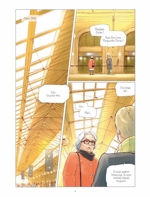 L'amant d'après le roman de Marguerite Duras par Kan Takahama aux éditions Rue de Sèvres page 9