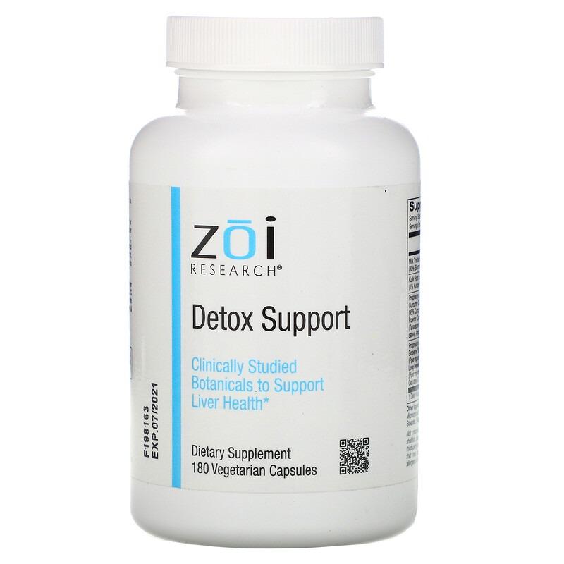 ZOI Research, поддержка выведения токсинов, 180 растительных капсул