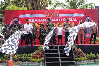 Panglima TNI dan Kapolri Lepas Bantuan Sosial dan Tim Satgas Pendisiplinan Protokol Kesehatan di Palu