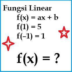 Contoh Soal dan Pembahasan Mencari Rumus Fungsi Linear Jika Diketahui Nilai Fungsi