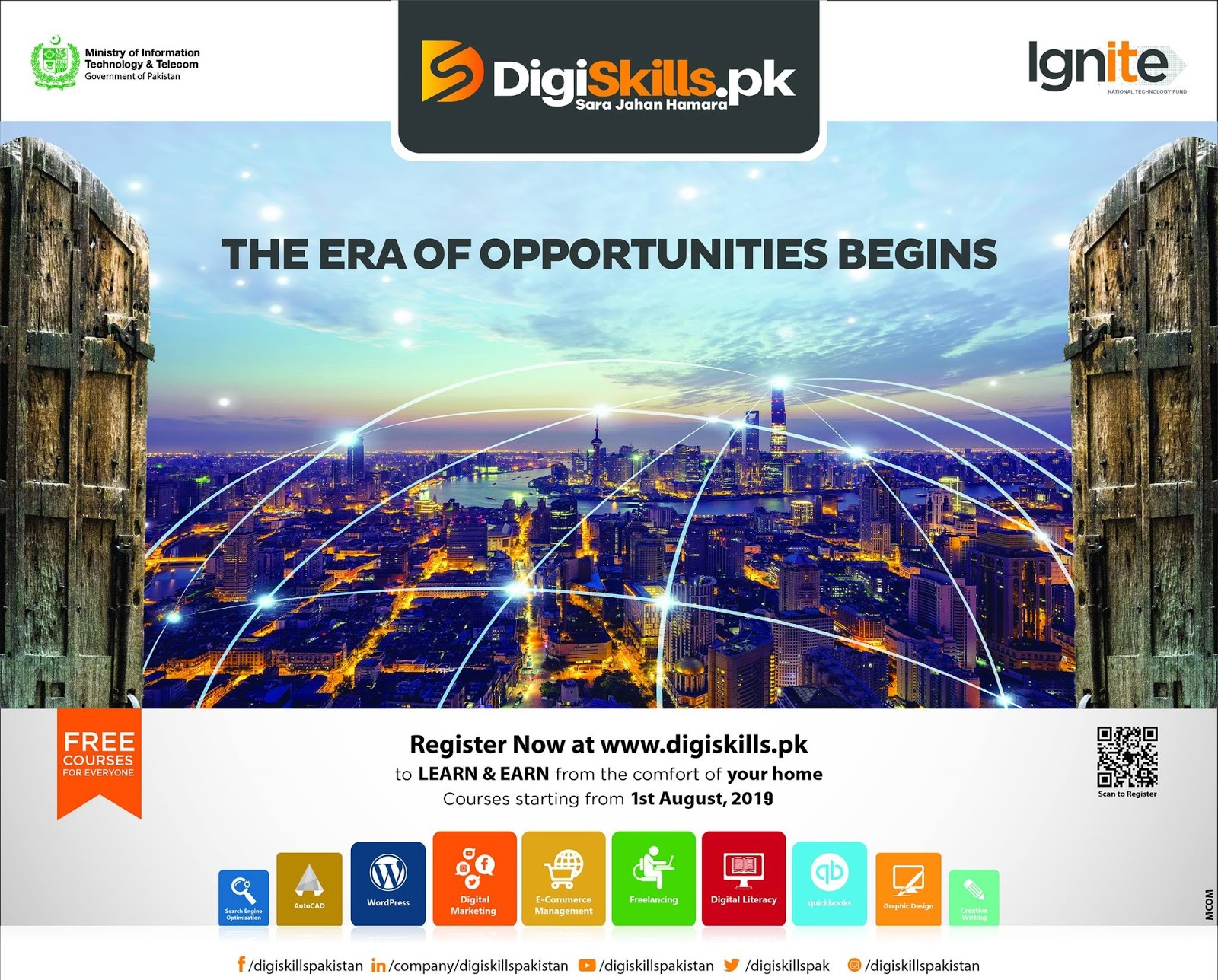 Digiskills Training Program 2019, Join Digiskills 2019 July Free Online Courses by Govt of Pakistan