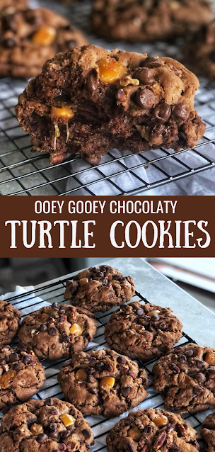 ooey gooey chocolate caramel cookie
