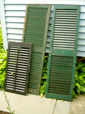 old shutters before