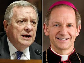 Senator Dick Durbin (D-IL) and Bishop Thomas J. Paprocki of Springfield
