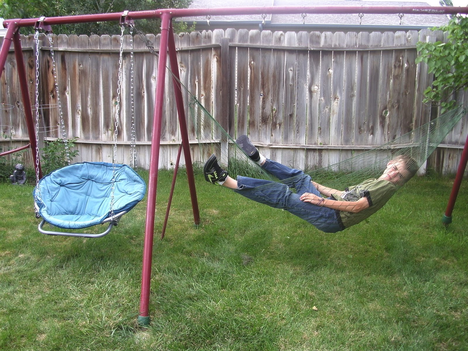 How To Make A Hammock Chair Random Acts Of Momness How To Make A Swing Set Chair And