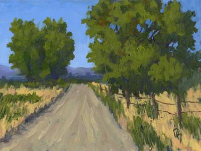 art painting landscape acrylic rural impressionist