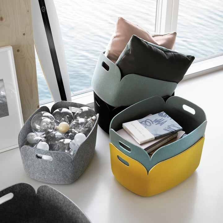 felt basket storage ideas