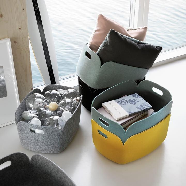 felt basket storage ideas