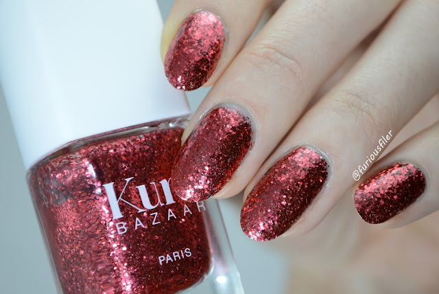 kure bazaar pigalle swatch red glitter furious filer