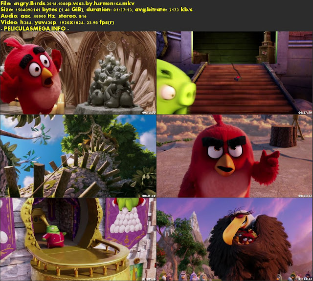 Descargar The Angry Birds Movie Subtitulado por MEGA.