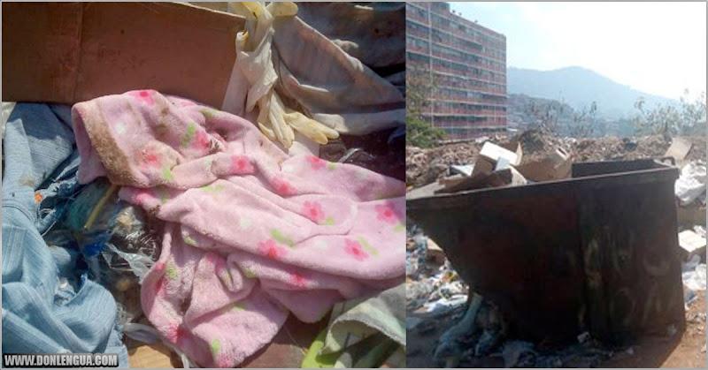 Otro feto con gusanos encontrado en la basura del 23 de enero