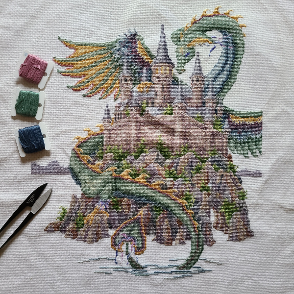 Dragon cross stitch | DevotedQuilter.com