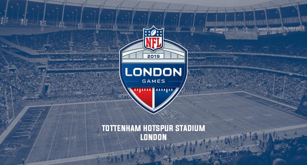 Tottenham Hotspur Stadium and 2019 NFL London Games logo
