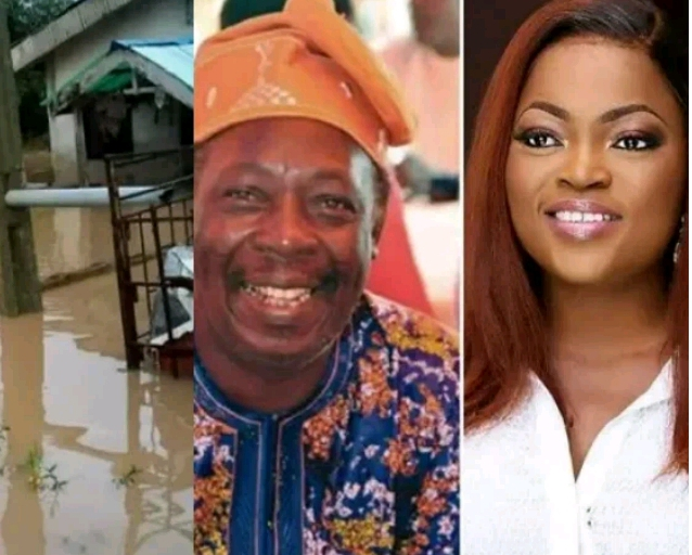 Popular Nollywood actress Funke Akindele gifts Pa James an apartment after flood took over his home for the second year in a row