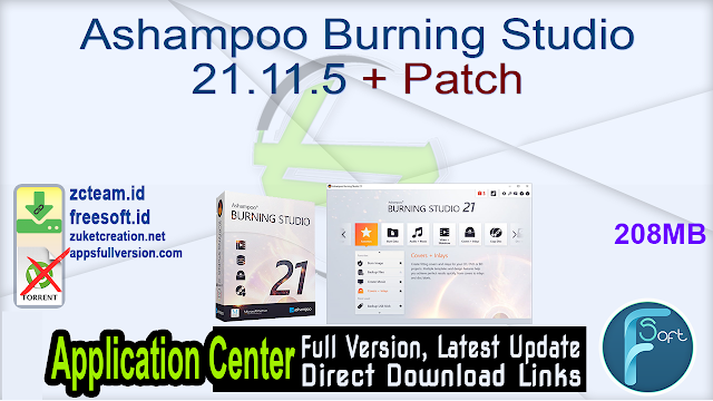 Ashampoo Burning Studio 21.11.5 + Patch
