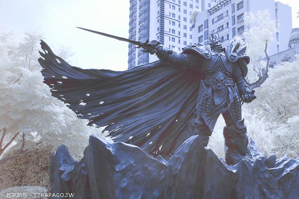 《台中.西區》阿薩斯雕像|魔獸世界重要角色|巫妖王|草悟道|法式滾球場