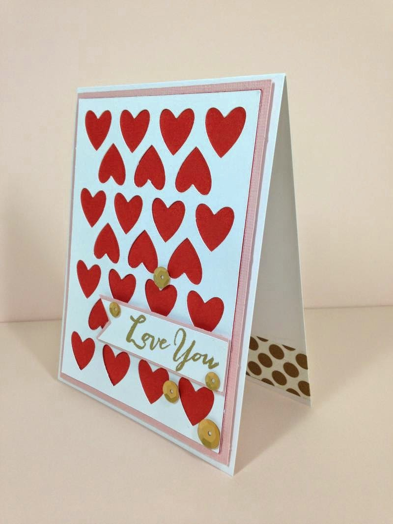 Close To My Heart Artfully Sent Valentine card sideview