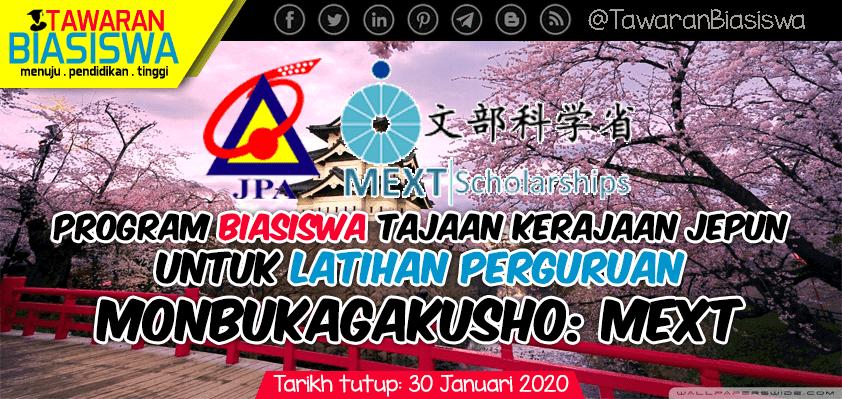 Tawaran Biasiswa Kerajaan Jepun Untuk Latihan Perguruan MONBUKAGAKUSHO (MEXT)