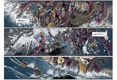 Le Jörmungand, contrôlé par les sirènes, attaque les Vikings