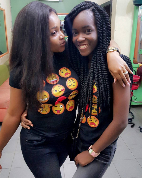 Nollywood Actress Mercy Aigbe And Daughter Rock Matching -3547