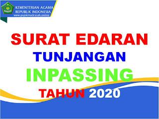 surat edaran tunjangan inpassing tahun 2020