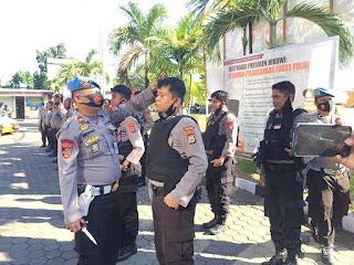 Tingkatkan Disiplin Anggota, Propam Polres Pelabuhan Makassar Gelar Gaktibplin