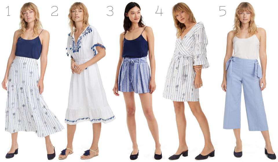Club Monaco, Spring, Womenswear, Luxury, Blue, Whites, Dresses, Embroidery, Fblogger