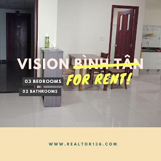 Cho thuê căn hộ 03 phòng ngủ chung cư Vision Bình Tân
