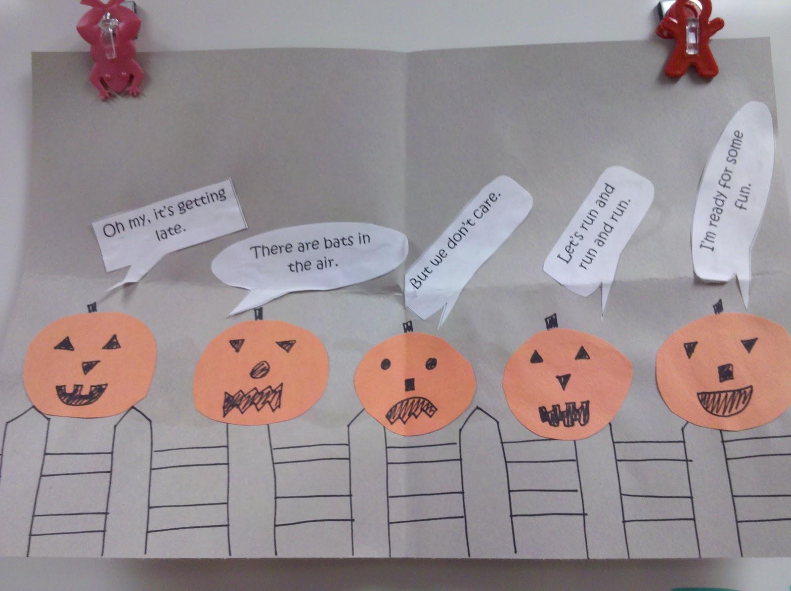 Fun In First Grade Five Little Pumpkins