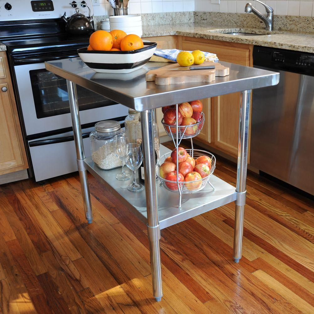 Stunning Stainless Steel Kitchen Tables